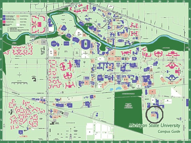 26 elegant Michigan State Campus Map – bnhspine.com